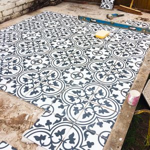 Northern Landscapes - Moroccan inspired tiled patio